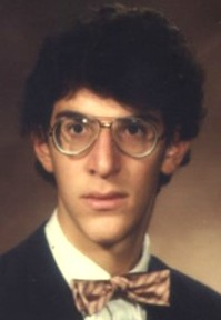 Stoler's high school yearbook photo, Fall 1984